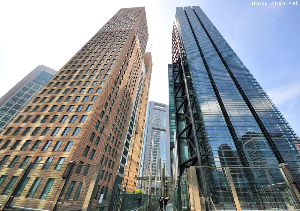 Tokyo architecture shiodome skyscrapers for Architecture tokyo