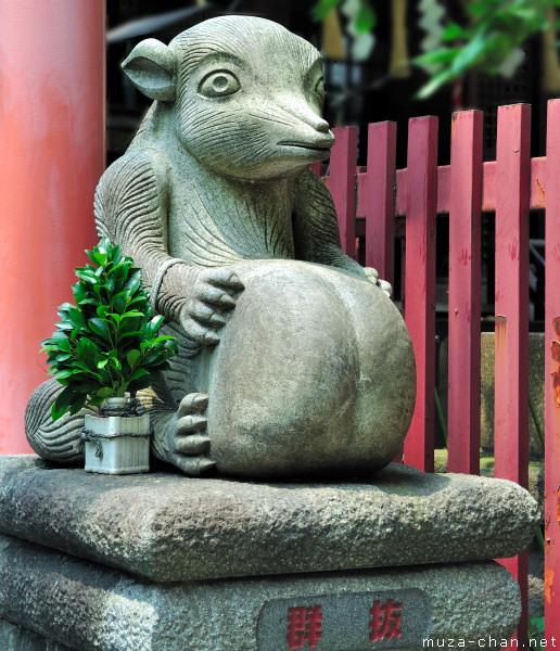 Tanuki statue, Yanagimori Shrine, Akihabara, Tokyo