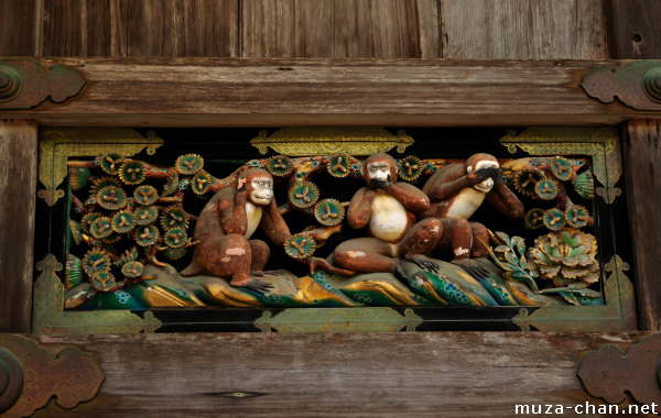 The three wise monkey, Toshougu Shrine, Nikko