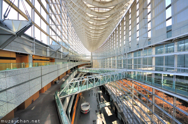 Tokyo International Forum, interior wide-angle view