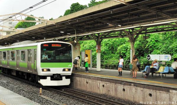 Yamanote train, Uguisudani Station, Tokyo