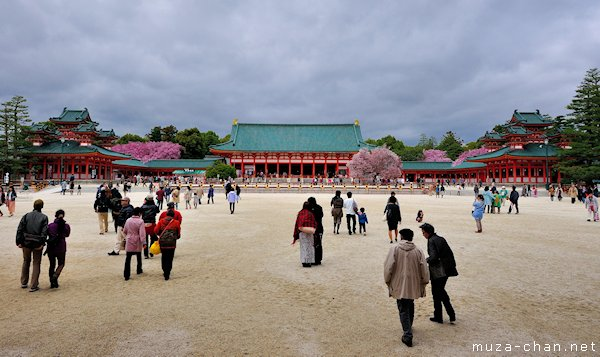 Daigoku-den, Byakko-ro, Soryu-ro, Heian Shrine, Kyoto