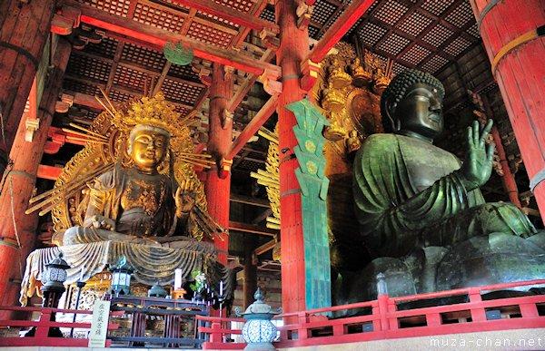 The Great Buddha, Kokuzo Bosatsu, Todai-ji Temple, Nara