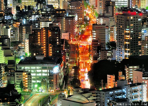 Aerial night view, Ikebukuro, Tokyo