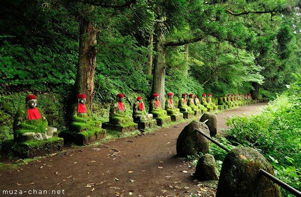 Jizo statues, Kanmangafuchi Abyss, Nikko