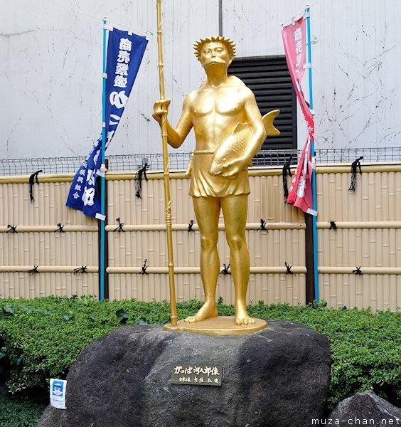 Kappa statue, Kappabashi-dori, Asakusa, Tokyo