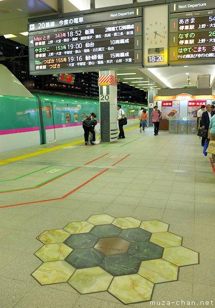 Kilometre Zero of the Japanese Railways, Tokyo Station, Tokyo