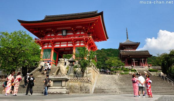 Nio-mon Gate, Sai-mon Gate, Kiyomizu-dera, Kyoto