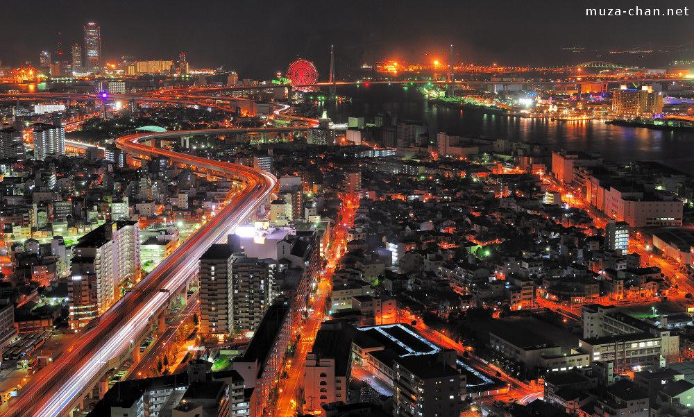 Osaka Bay Spectacular Bird S Eye Night View