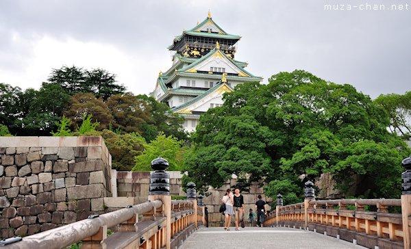 Osaka Castle, Gokuraku Bashi, Osaka