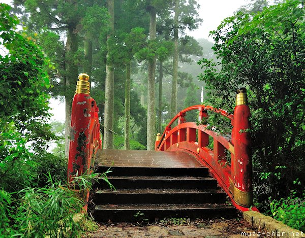 Japanese Red Bridge, Hakone Shrine, Hakone
