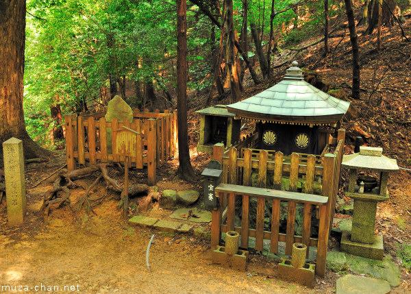 Sekurabe Ishi (Minamoto no Yoshitsune stone), Mount Kurama, Kyoto