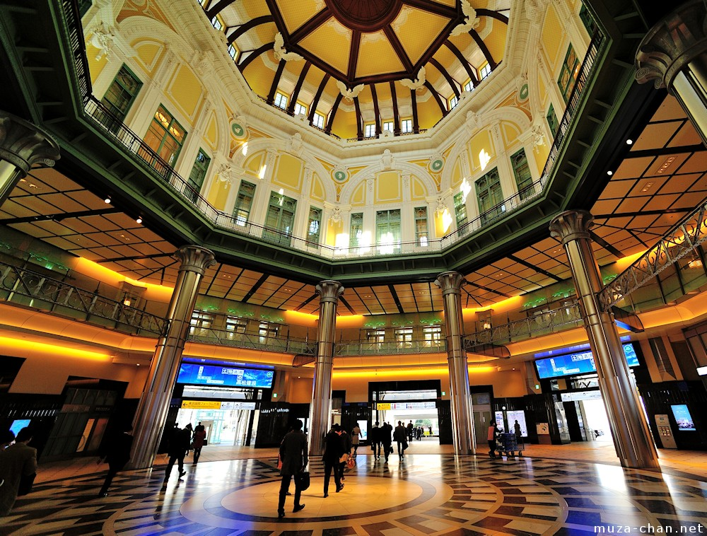 Tokyo Station\'s glamorous dome, interior view