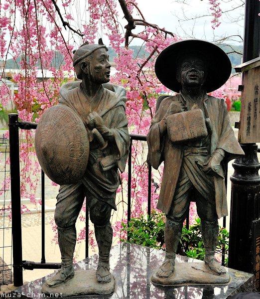 Statues of Yaji-san and Kita-san, Sanjo Ohashi, Kyoto