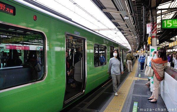 Yamanote train 50th anniversary of the 103 Series, Shinjuku, Tokyo