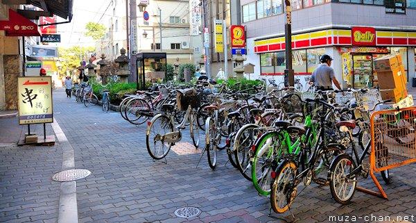 Sumiyoshikoen Station exit, Osaka