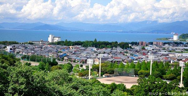 Lake Biwa, view from Hikone Castle, Hikone