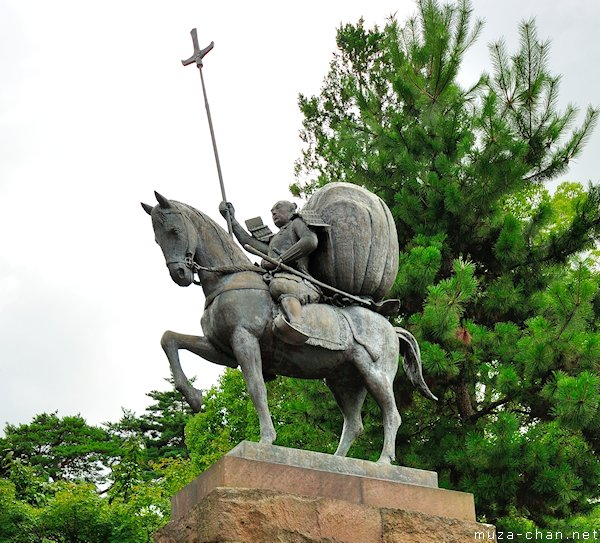 Maeda Toshiie statue, Oyama Shrine, Kanazawa