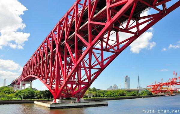 Osaka Minato Bridge, Osaka Bay