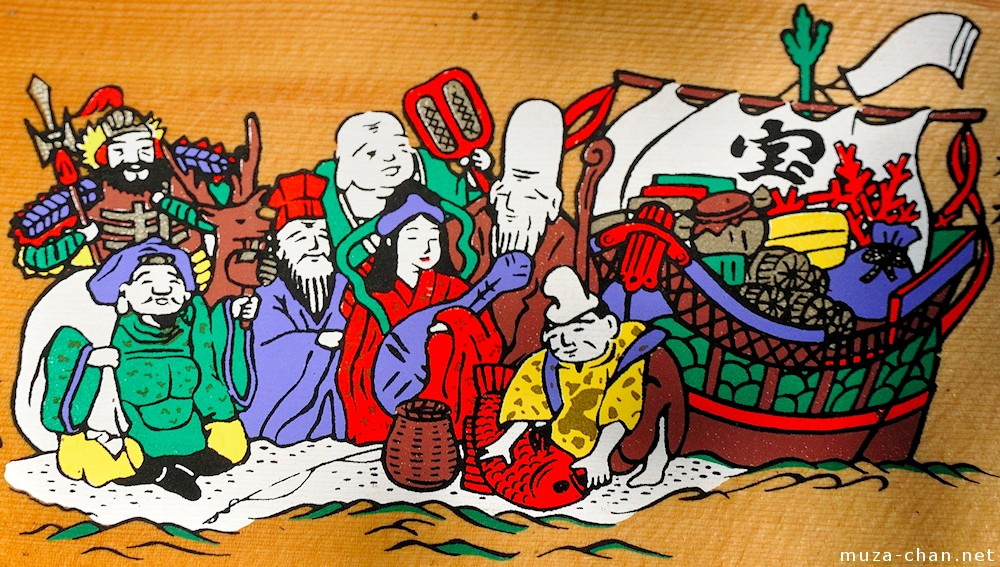 The Seven Gods Of Luck On Their Ship Takarabune
