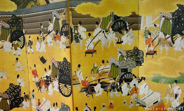 The Tale of Genji - Rivalry of the Carriages, Folding screen, Kansai Airport, Osaka