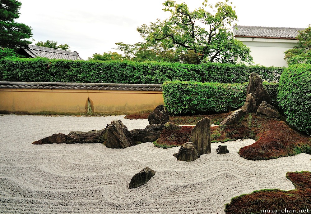 Zen garden patterns stormy waves for Japanese meditation garden