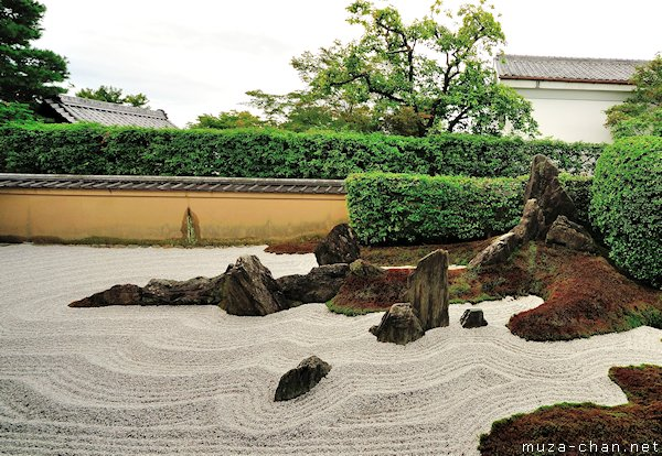 Zen garden patterns stormy waves for Japanese meditation garden design