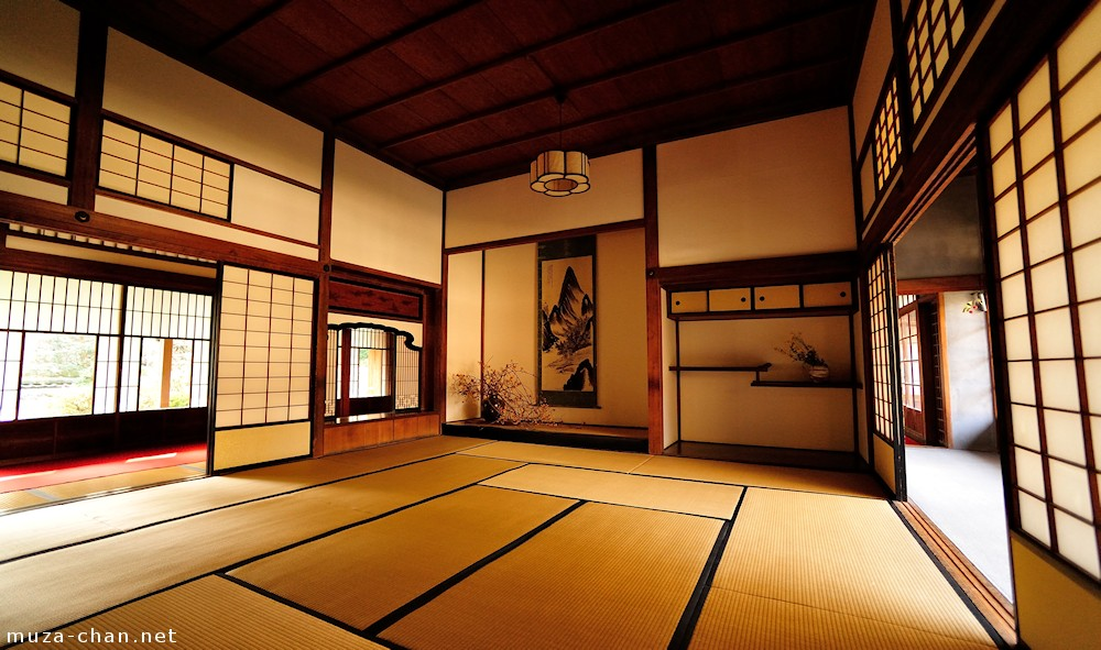 Traditional Japanese house, Tokonoma, Chigai-dana and ...