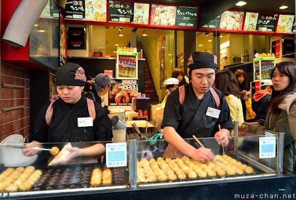 Takoyaki restaurant, Dotonbori, Osaka