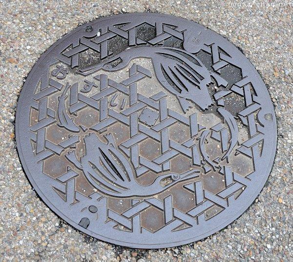 Cormorant fishing Manhole Cover, Gifu