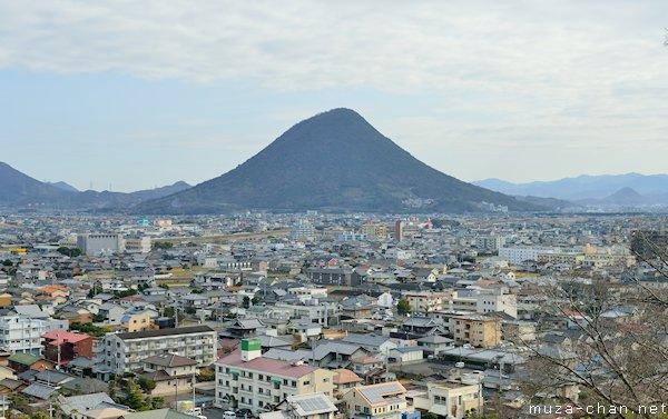 Iinoyama, View from Marugame castle, Marugame, Kagawa