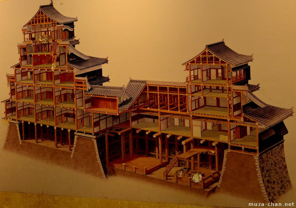 Cross Section View Of The Original Kumamoto Castle