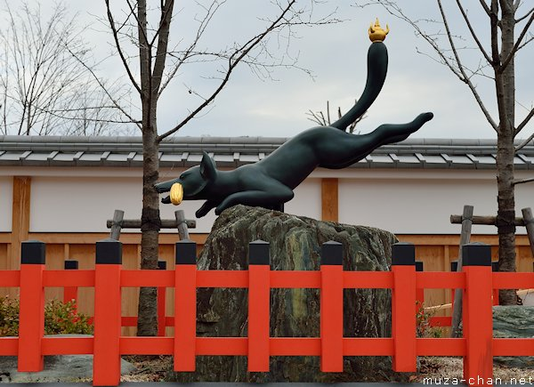 Kitsune statue, Fushimi Inari Taisha, Kyoto