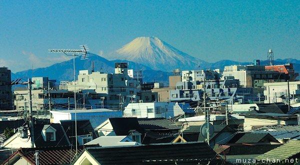 Mount Fuji, View from from Chuo line, Hachioji, Tokyo
