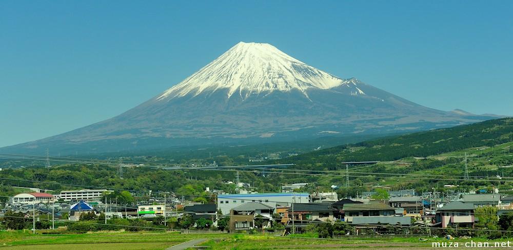 Great views from train, Mount Fuji from Tokaido Shinkansen