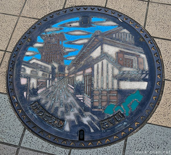 Toki-no-kane Manhole Cover, Kawagoe