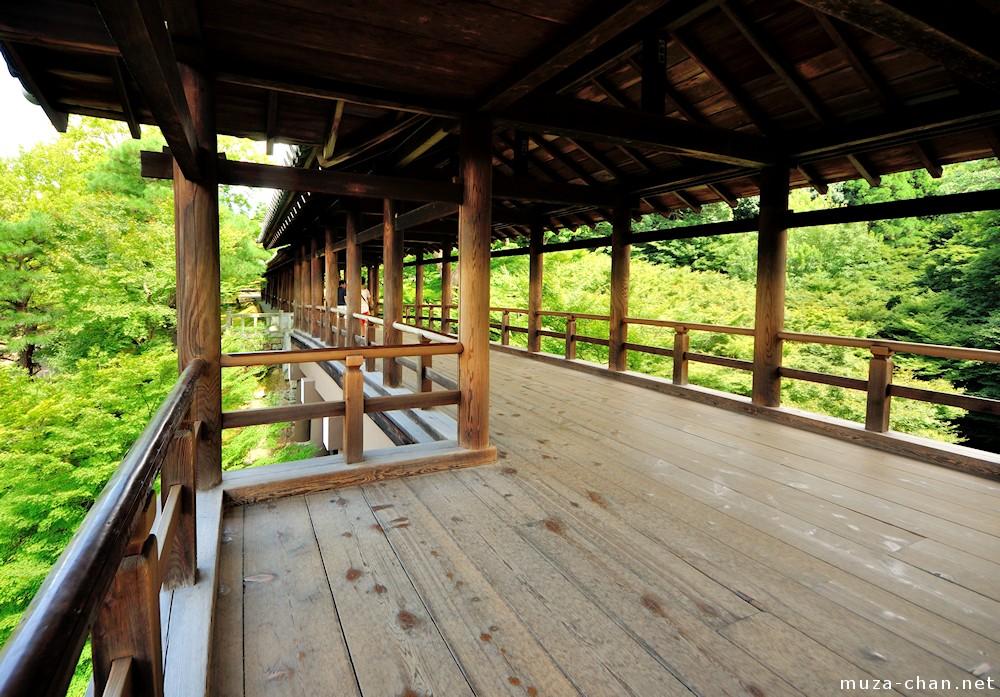 Tsutenkyo, wooden covered bridge in Kyoto