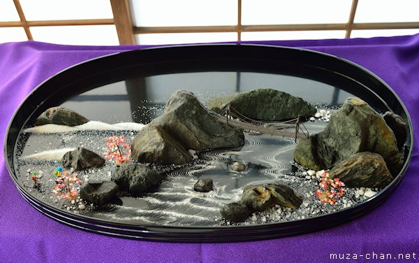 Ancient Japanese Art Bonseki Dry Tray Landscapes