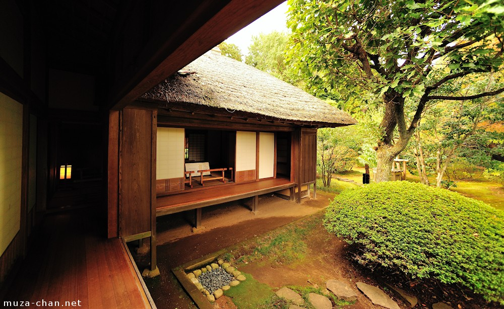 Japanese Traditional House Wooden Veranda