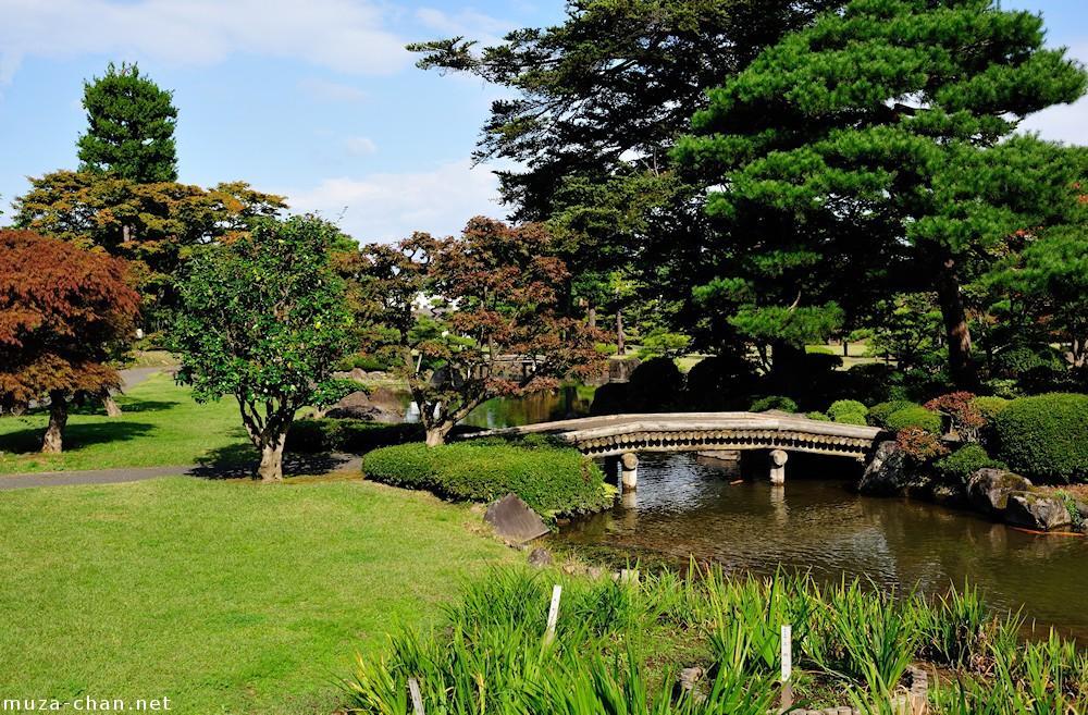 Japanese Garden Cherry Blossom Bridge