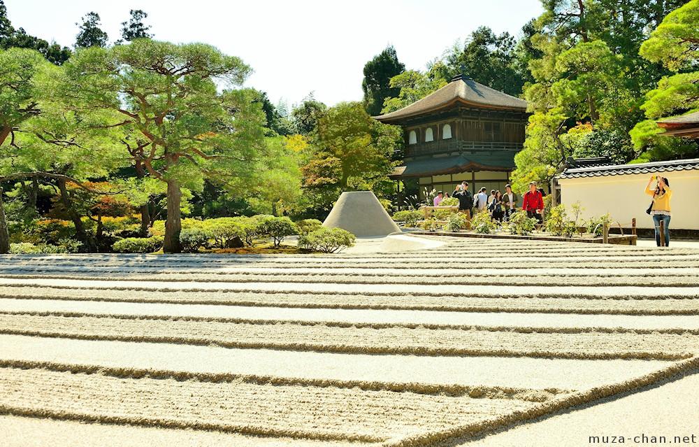 Zen garden patterns, Ginsyadan, the white sand waves