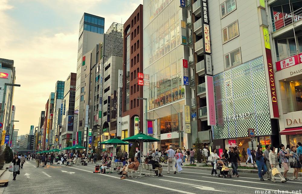 tokyo ginza pedestrian paradise