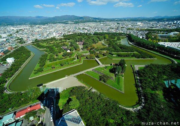 Goryokaku fort, View from Goryokaku Tower, Hakodate