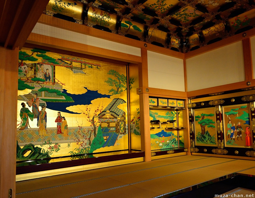 Golden Walls Inside The Honmaru Goten Palace