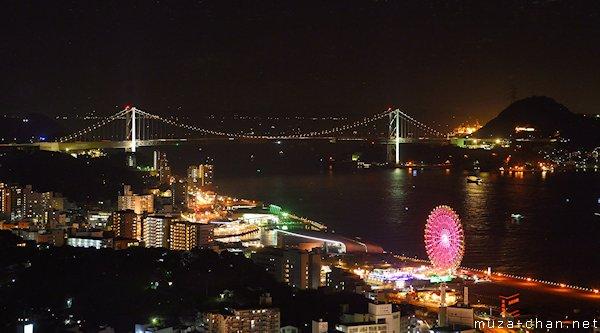 View from Kaikyo Yume Tower, Shimonoseki