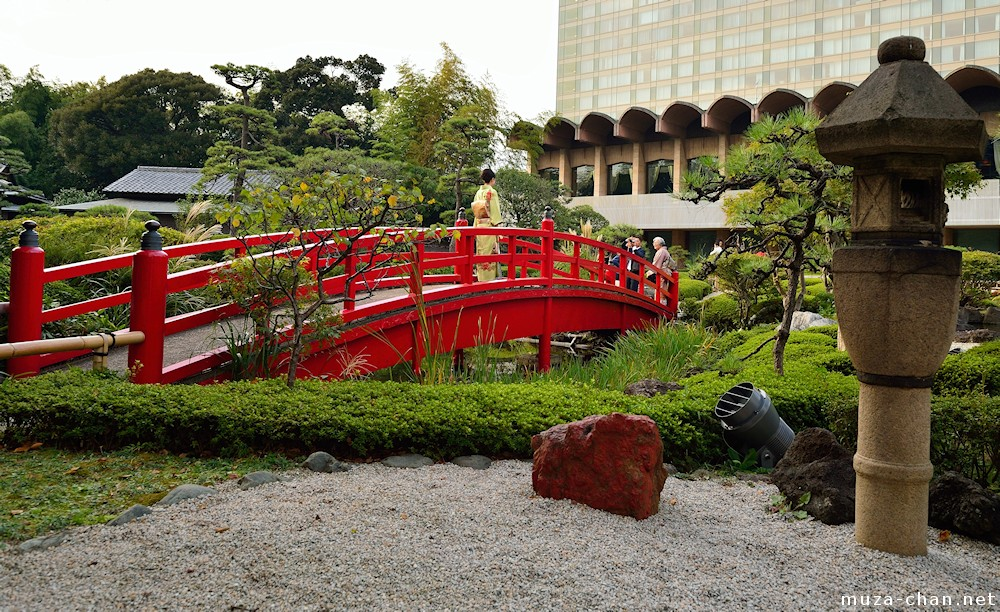 taiko bridge new otani - Red Japanese Garden Bridge