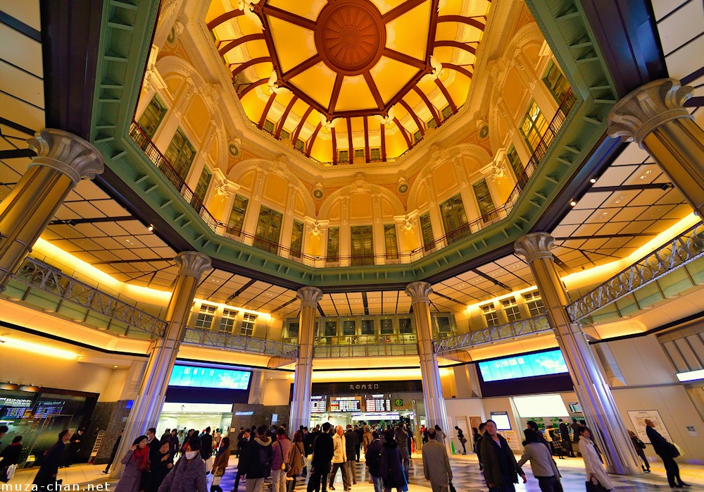 Tokyo Station dome interior, wide angle view