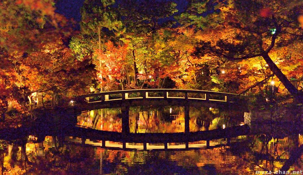 Surreal autumn night at Eikando Kyoto