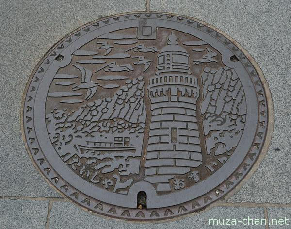 Hinomisaki lighthouse Manhole cover, Izumo, Shimane