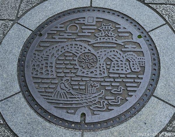 Manhole cover, Iwakuni, Yamaguchi